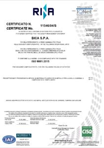 Certificato ISO 9001 RINA